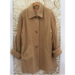 Vintage Marvin Richards Tan Camel Wool Long Coat